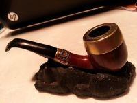 Antifque Blue Line KB&B Bakelite Tobacco Pipe with Silver ...