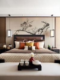 Bedrooms, Asian inspired bedroom and Warm bedroom on Pinterest