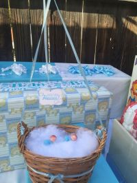 Centerpieces Heaven sent theme Twin boys baby shower With ...