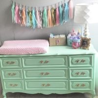 Vintage dresser turned into changing table. | Maybe Baby ...