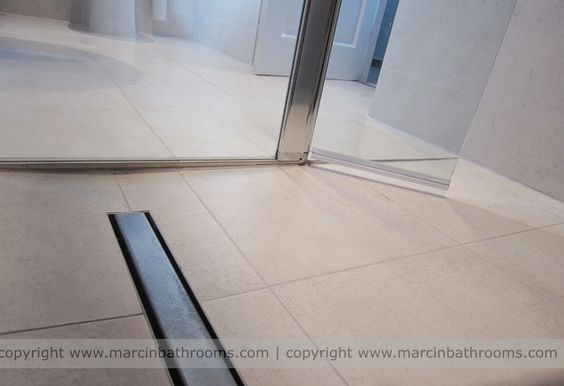 Linear Drain In A Wet Room Floor These Are More Expensive
