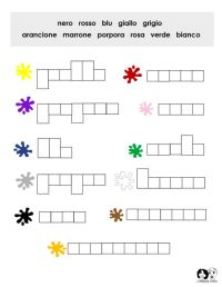 Colors Italian Worksheet | Italian Worksheets for Children ...