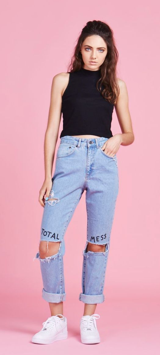 Lazy Oaf x The Ragged Priest Total Mess Jeans: