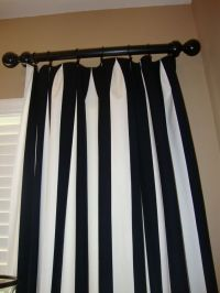 Vertical Striped Curtains : use canvas drop cloths (9x12 ...