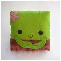 Decorative Pillow, Cactus Pillow, Throw Pillow, Green ...