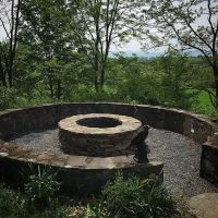 "Silo foundation transformed into a firepit. ""REPURPOSED ..."