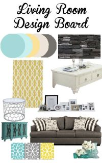 Living Room and Main Floor Design Inspiration | Teal ...