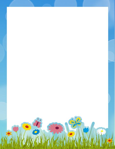 Printable Spring Border. Free Gif, Jpg, Pdf, And Png Downloads At