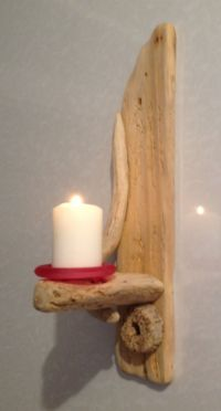 Driftwood Sconce , Candle holder , Art , Crafts ...