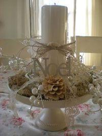 Cake plates, The hurricane and Christmas decor on Pinterest