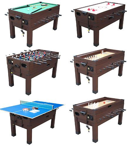 13 In 1 Game Table In Espresso Foosball Pool Air