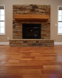 Classic Fireplace with Raised Hearth | Custom Fireplaces ...