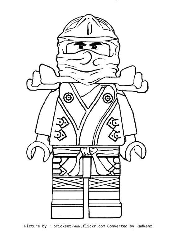 Ninjago Coloring Pages Lego Golden Ninja