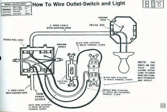 wiring power to light then switch outlet