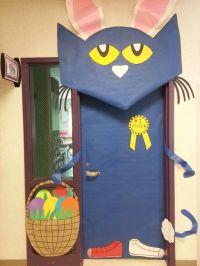 Easter classroom door with Pete the Cat! | April ...
