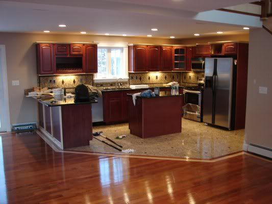 Kitchen Cabinets And Flooring Combinations | Hardwood Vs. Tile In