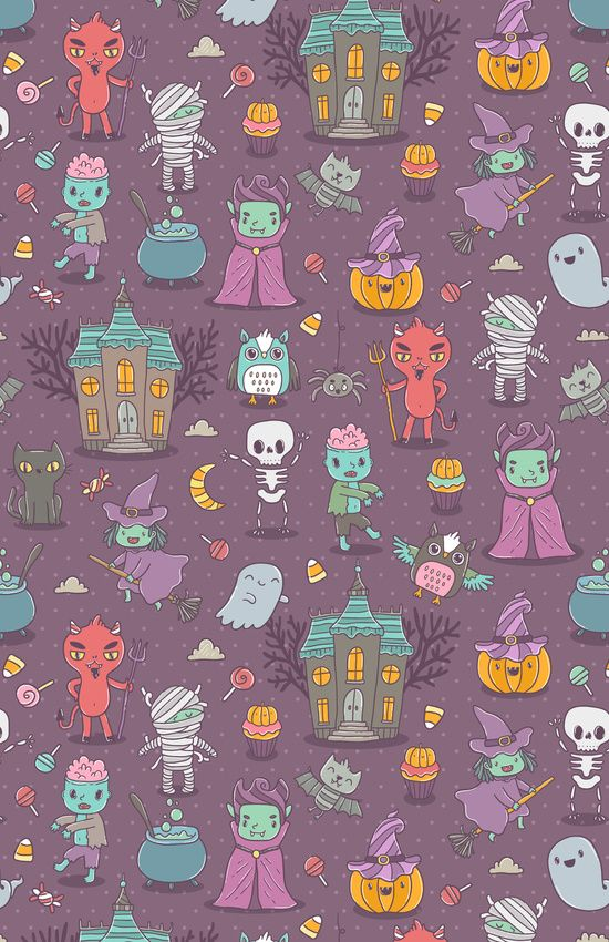 Minimalist Fall Wallpapers 30 Adorable Halloween Mobile Wallpapers To Download Hongkiat