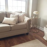 Cozy living room. Warm beige and whites. Paint color