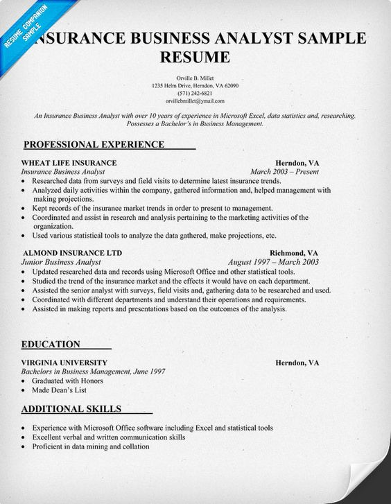 advanced career resume examples business analyst