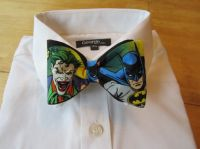 Bow tie made from Batman and Joker Fabric | Bow ties ...