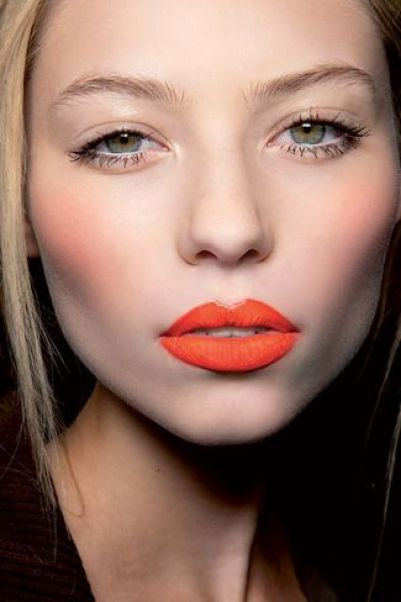 Get in on the orange lip trend for 2014: