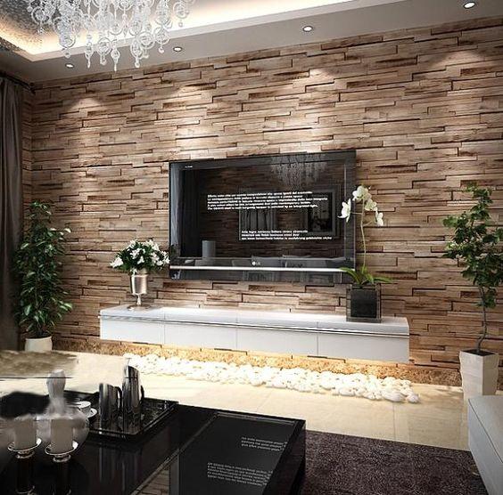 Cheap 3d Brick Wallpaper Pvc Wood Stone Brick Wallpaper 3d Modern Wall Paper Luxury