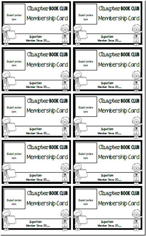 club membership card templates