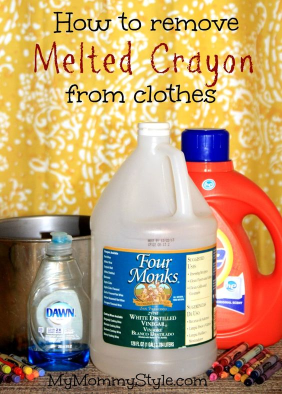 How To Remove Melted Crayon From Clothes Tips Tricks