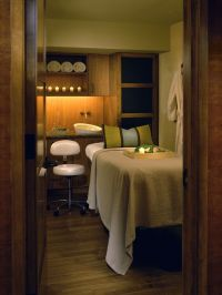 Spa Treatment Room- Great colors. Very cozy and relaxing ...