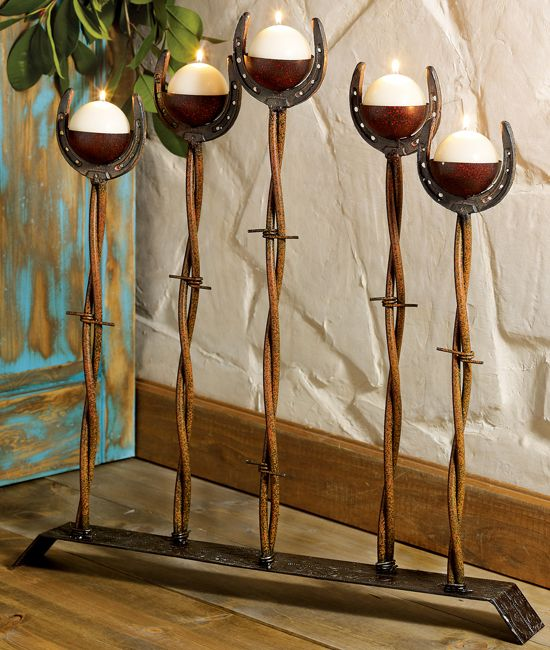 Western Rustic Candle Holders Cabin Decor Pinterest