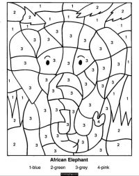 color-by-numbers-elephant-coloring-pages-for-kids ...