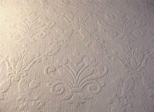 Hot Or Not? Painting Over Textured Wallpaper | Pinterest