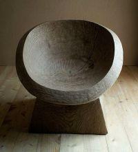 tree stump chair   Design   Pinterest   Trd och Stolar