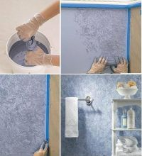 Wall decor idea...rag rolling paint technique | painting ...