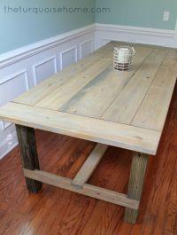 Easy DIY Farmhouse Table tutorial for less than $100 ...