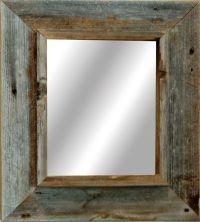 Western Rustic Mirror - Reclaimed Barnwood (20x30 frame ...