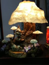 Awesome large MAGIC MUSHROOM Lamp with elves. by Neetorama ...