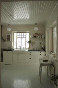 Tongue and groove ceiling | Kitchens | Pinterest | Tongue ...