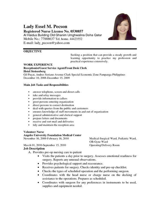 Best Resume Format For Nurses In 2016 2017 Application Letter Format For Volunteer Nurse Order Custom