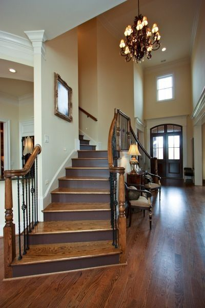 Double Staircase Entryway For The Home Pinterest