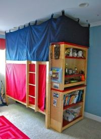Bunk Bed privacy for the boys. | For the Home | Pinterest ...