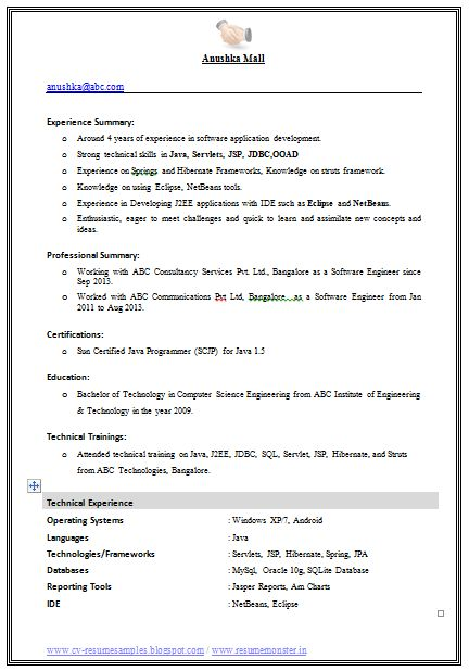 Computer Science Student Resume Best Sample Resume Example Template Of An Excellent Computer Science Engineer