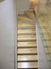 Winder Stairs | White Oak on Stairs with 3 Winder Treads ...