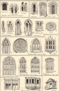 1906 Types of Windows Middle Ages Tudor Renaissance ...