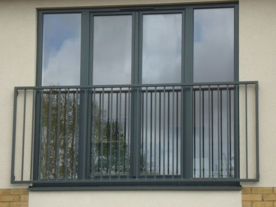 #Aluminium composite french doors for a Juliet balcony