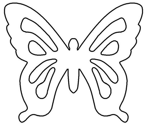 Butterfly template BORBOLETAS Pinterest Modelo de borboleta - butterfly template