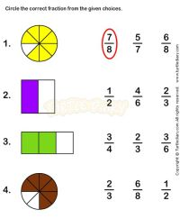 Basic Fraction Worksheet - 1000 images about fractions ...