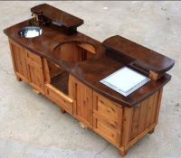 Custom Outdoor Kitchen / Table for the Big Green Egg ...