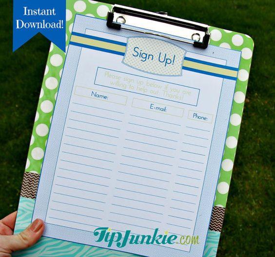sign up sheet template google