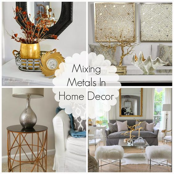 Decorating Cents: Mixing Metals In Home Decor | Color: Metallic